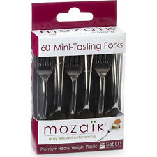 Mozaik Mini-Tasting Forks 60 pcs. Cocktail Party Appetizers Silver