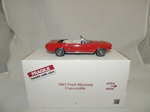 """1967 Ford Mustang Convertible """"Candy Apple Red"""" 1/24 Replica By Danbury Mint"""