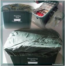 More details for 2x recycling box/bin cover/lid - elasticated, tie on, wind/weatherproof, recycle