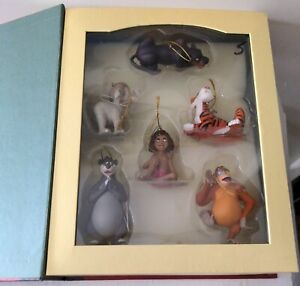 JUNGLE BOOK Disney's Christmas Storybook Collection set of 6 Ornaments Vintage