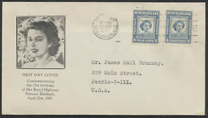 1947 Newfoundland #269 Princess Elizabeth Birthday FDC, Cachet, St John's