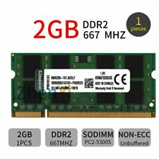 2GB 1GB DDR2 667MHz PC2-5300S KVR667D2S5/2G SODIMM Laptop Memory For Kingston