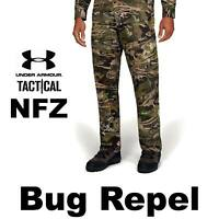 "UNDER ARMOURVENT UA NFZ CAMO FIELD PANTS ""NO FLY"" CAMO HUNTING 1328537-940 30 36"