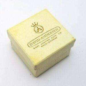 Vintage David Andersen Empty Jewellery Box Ring Pendant 3.6 x 3.6 x 2.4cm
