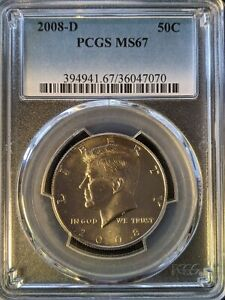 2008-d pcgs ms67 Kennedy Half Dollar Key Date No Kidding! Top pop 31/0