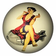 Pool/Billiards Custom Cue Ball Red Dress Bomber Girl NEW!
