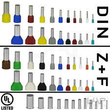 Zoller+Fröhlich Aderendhülsen isoliert + unisoliert 0,14 mm² bis 25mm² + TWIN