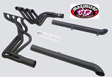 Maximizer Black Header For Corvette 1965 To 1974 Chevy BBC Side Pipe w/kits