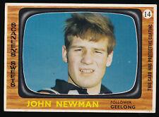 1967 Scanlens Geelong No. 14 John Newman Cats football card