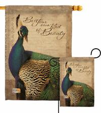 Peacock Garden Flag Birds Friends Decorative Small Gift Yard House Banner