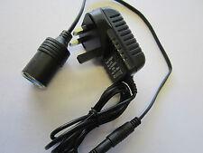 240V Mains to 12V DC Cigarette Lighter Voltage Converter Power Adapter 2A (24W)