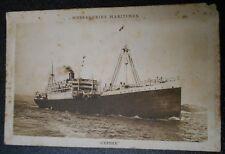 S.S. CEPHEE - MESSAGERIES MARITIMES  vintage original ship postcard
