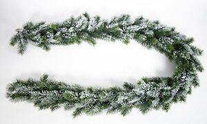 Künstliche Tannengirlande mit Schnee 190cm DP Kunststoff Spritzguss 100% PE
