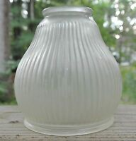 Vintage Ribbed Frosted Glass Shade Light Fixture