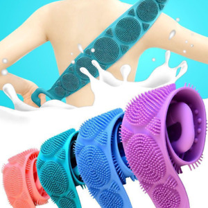 Extended Scrubber Skin Cleaning Brushes Silicone Bath Towel Rubbing Back Peeling