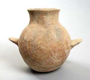 Rare Holy Land  Early Bronze Age Pottery Amphora: Circa 3000 BC.