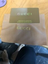 "Gucci Empty Authentic Card 12 ""x 8 ""x 4.5"" Plus Cloth"