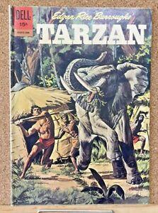 DELL COMICS TARZAN #130 1962 1ST SERIES TV JUNGLE HERO ACTION SILVER AGE!!!
