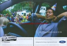 """Ford Mondeo """"One Of The Safest Places To Be"""" 2002 Magazine 2 Page Advert #3991"""