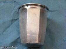 Timbale argent/sterling minerve 1 à pans,silver mug Emile Printemps 1900.