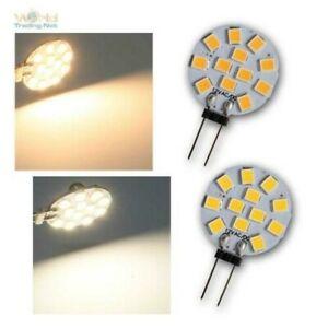 G4 LED Illuminant 165/170lm 1,2W/12V AC/Dc, Small Bulb Plug-In Lateral