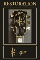 Autocollant Adhésif Décalcomanie Gibson Tête Guitare Restauration