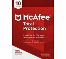 McAfee Total Protection 2019 | 10 Device | 1 Year Antivirus/Internet Security