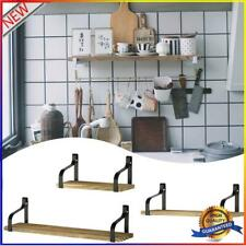 Floating Shelves Wall Mounted Set of 3, Wood Wall Storage Shelves for Bedro #OS