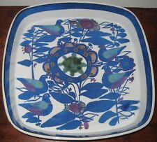 VERY LARGE ROYAL COPENHAGEN ALUMINIA DISH / BOWL FUNKY BIRDS LEAVES FLOWERS