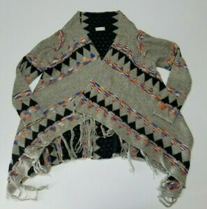 Altar'd State Womens Long Sleeve Cardigan Sweater Casual Aztec Theme Size Medium