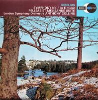 ECS 581 Sibelius Symphony no. 1 Pelleas et Melisande Anthony Collins NM/EX Decca