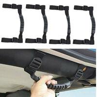 4x Roll Bar Grab Handles Grip Handle For Jeep Wrangler JK JKU TJ Unlimited Black
