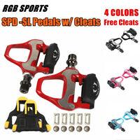 RGB Cycling SPD-SL Road Bike Clipless Pedal Bicycle Self-Locking Pedal w/ Cleats