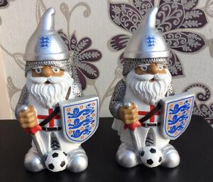 2 X England Football Gnomes Euros World Cup UK St George