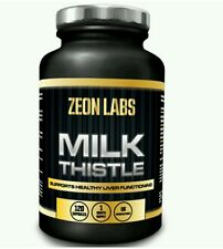 MILK THISTLE *120 CAPSULES* *INCREDIBLY POWERFUL LIVER DETOX* ZEON LABS