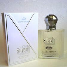 Silver 100 ml 3.3/3.4 oz Eau De Perfume Natural Spray By Al Rehab Perfumes