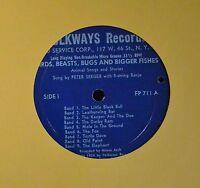 "10"" FOLK LP Pete Seeger With 5 String Banjo Folkways 711"