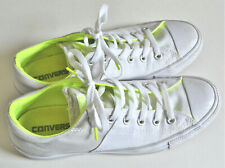 Converse All Star Grey White Neon Yellow/Green Women's 9.5 Mens 8  Padded Low