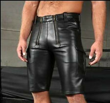 Men's Real Leather Carpenter Cargo Shorts Real Leather Carpenter Shorts