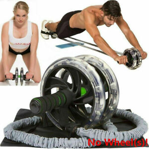 2PCS Pull Rope Abdominal Slimming Fitness Equipment Bands For Ab Roller Wheel