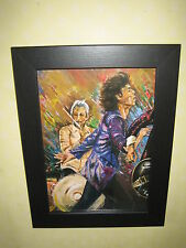 Ronnie WOOD dei ROLLING STONES FRAMED ART PRINT dal famoso FIAMME Collection