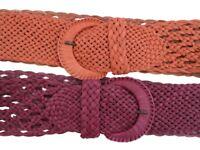Eddie Bauer Quality Leather Belt Braided Plaited Blue Designer S M L XL Bnwt New