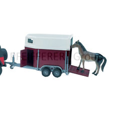 Bruder Pferdeanhänger inkl. 1 Pferd Spielzeug Anhänger Modell