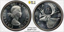 Weeda Canada 1953 SF silver quarter, PCGS certified MS 62