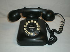 Vintage Antique Black Grand Telephone With Push Button Dialing & Flash Redial