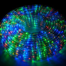100FT 110V LED Rope Light Outdoor Yard Home Party Decorative RGB COLOR Lighting