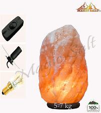 Himalayan Sal Rosa Cristal De Roca Lámpara 5-7 kg de curación natural ionizante Lámpara De Sal
