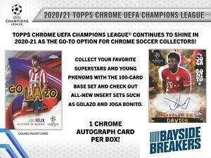FC PORTO 2020-21 Topps UCL Chrome Soccer Half Case (6 Box) Break #1