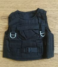 "Black Tactical Vest Bulletproof Body Armor 12""1/6 Scale Dragon Action Man Figure"