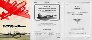 Boeing B-17 F Flying Fortress Maintenance Manual 1940's WW2 RARE DETAIL ARCHIVE